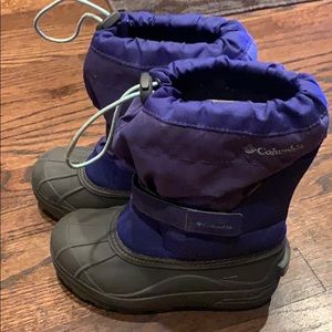 Columbia purple and blue snow boots size 2